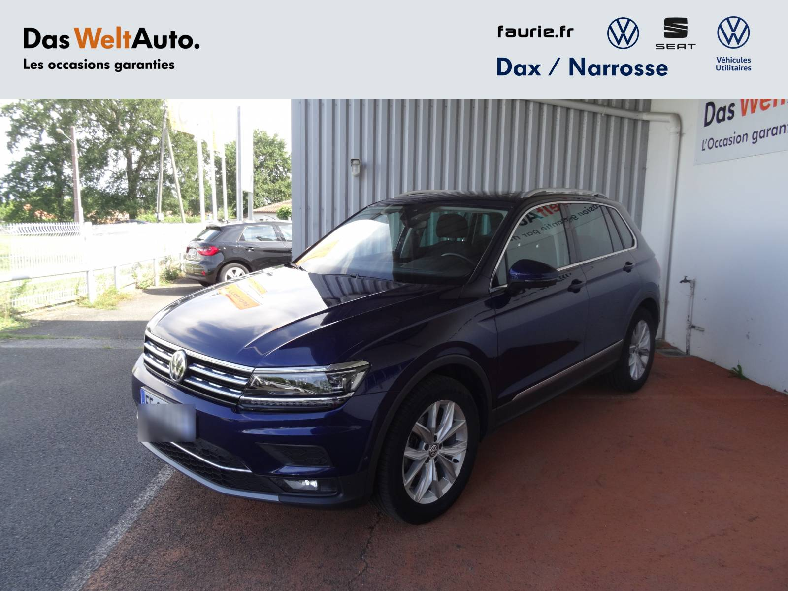 VOLKSWAGEN Tiguan 2.0 TDI 150 DSG7 - véhicule d'occasion - Site Internet Faurie - Volkswagen - Faurie Axess Sud Ouest Dax - 40180 - Narrosse - 16